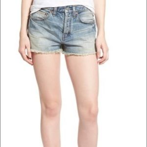 Free People Uptown Denim Shorts in Camp sz 27